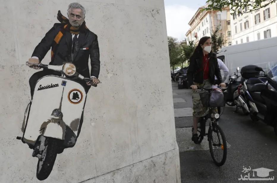 """نقاشی دیواری """"خوزه مورینیو"""""""