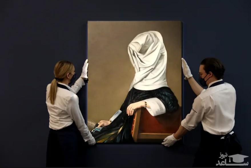 """فروش یک تابلو نقاشی در حراجی """"ساتبیز"""" لندن/ گتی ایمجز"""