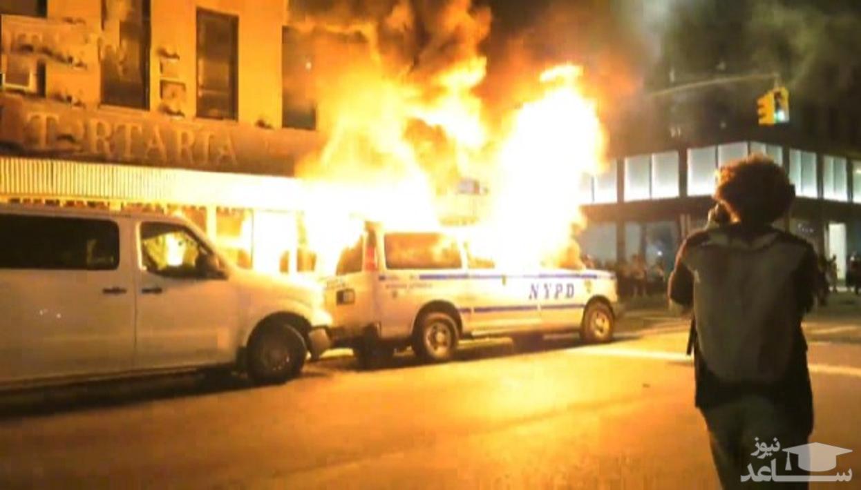 (فیلم) خشم بینهایت مردم منهتن در اعتراض به قتل یک سیاه پوست توسط پلیس