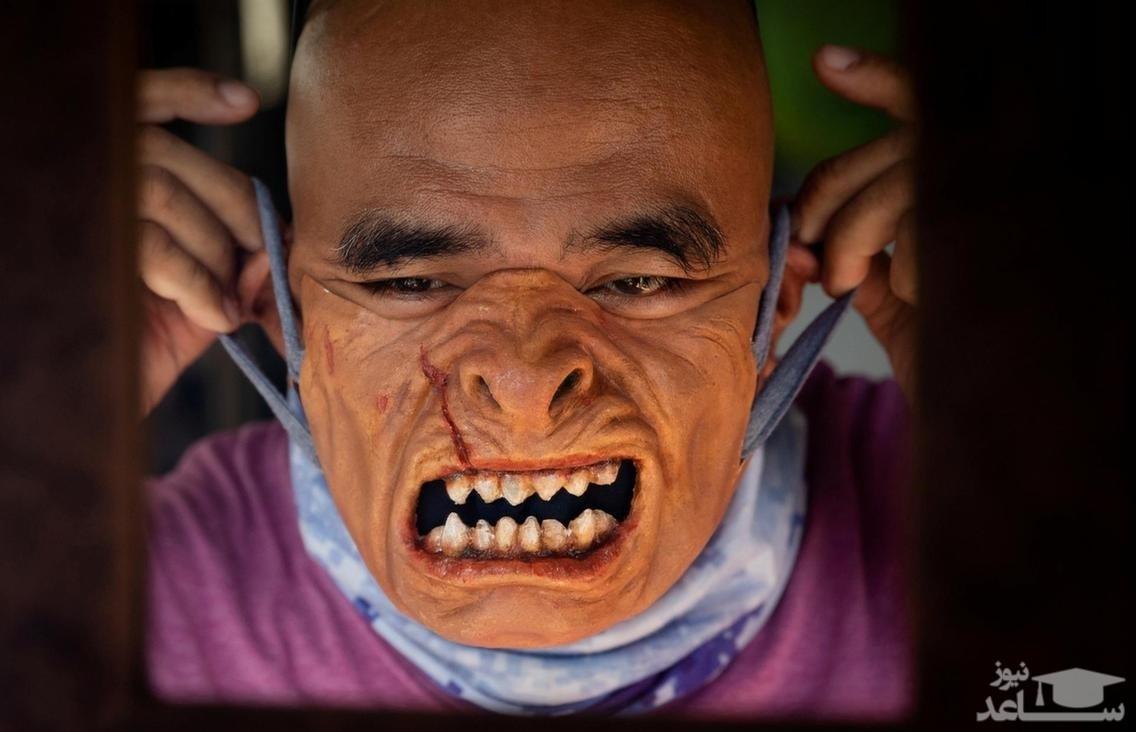 (عکس) ساخت ماسکهای وحشتناک برای کرونا!