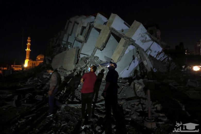حملات هوایی اسراییل به نوار غزه