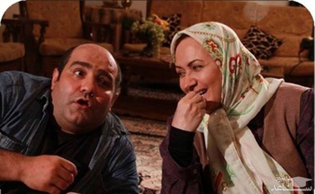 افسانه ناصری و همکار بازیگرش