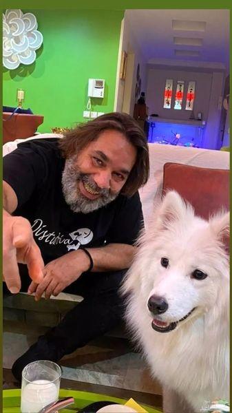 داریوش سلیمی و سگ زیبایش