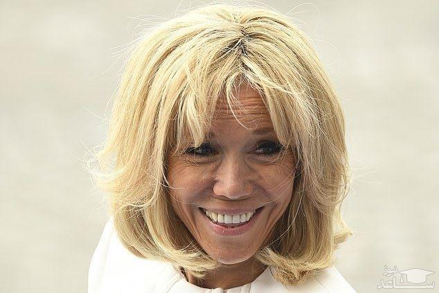 (عکس) رونمایی از چهره جدید همسر مکرون