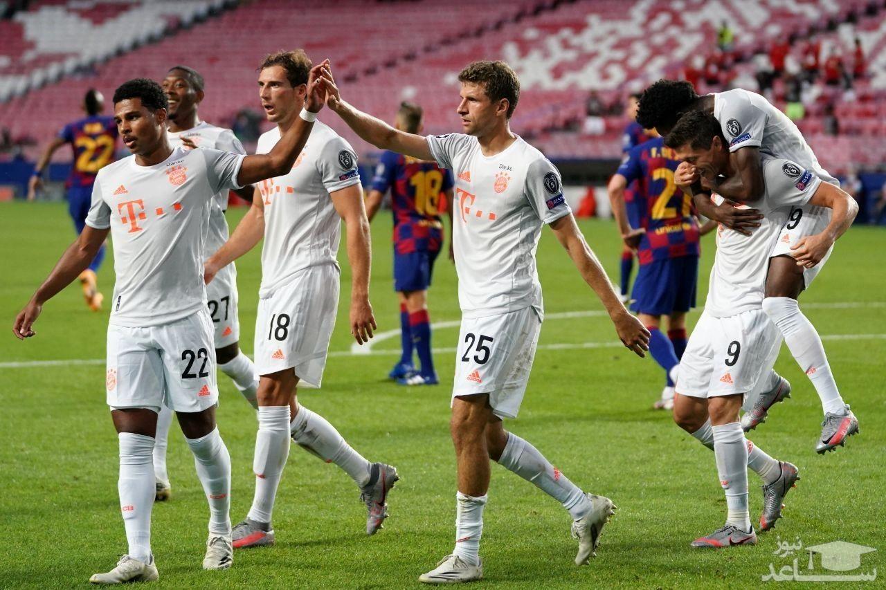 بایرنمونیخ با ۸ گل، بارسلونا را تحقیر و صعود کرد