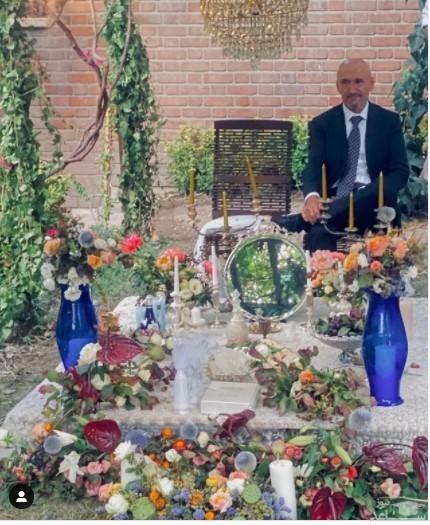 پدر فرشته حسینی سر سفره عقد