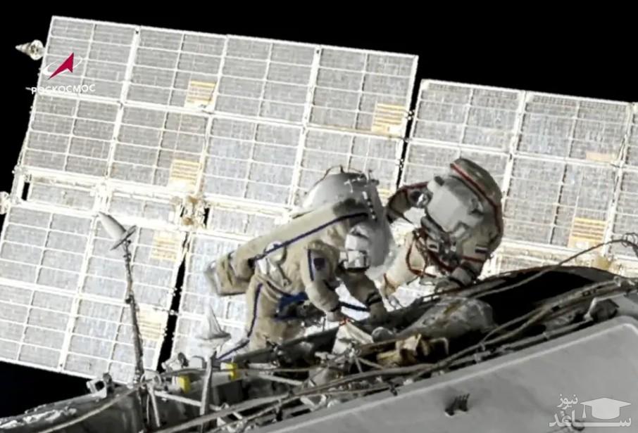 راهپیمایی دو فضانورد روسی برای تعویض باتری ایستگاه فضایی بین المللی