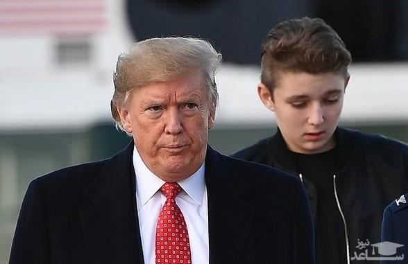 قد بلند پسر دونالد ترامپ سوژه شد
