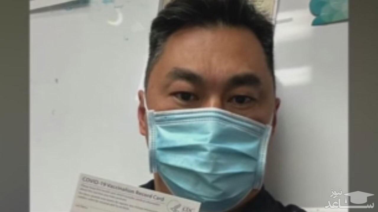 (فیلم) مثبت شدن تست کرونای پرستار آمریکایی پس از تزریق واکسن فایزر
