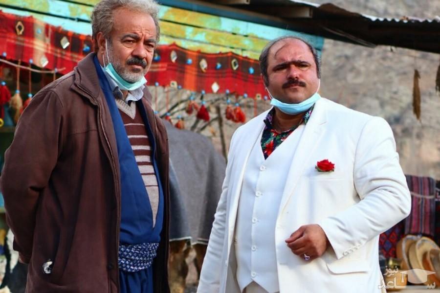 کاظم نوربخش بازیگر نقش سلمان در نون خ 3 در کنار برادرش