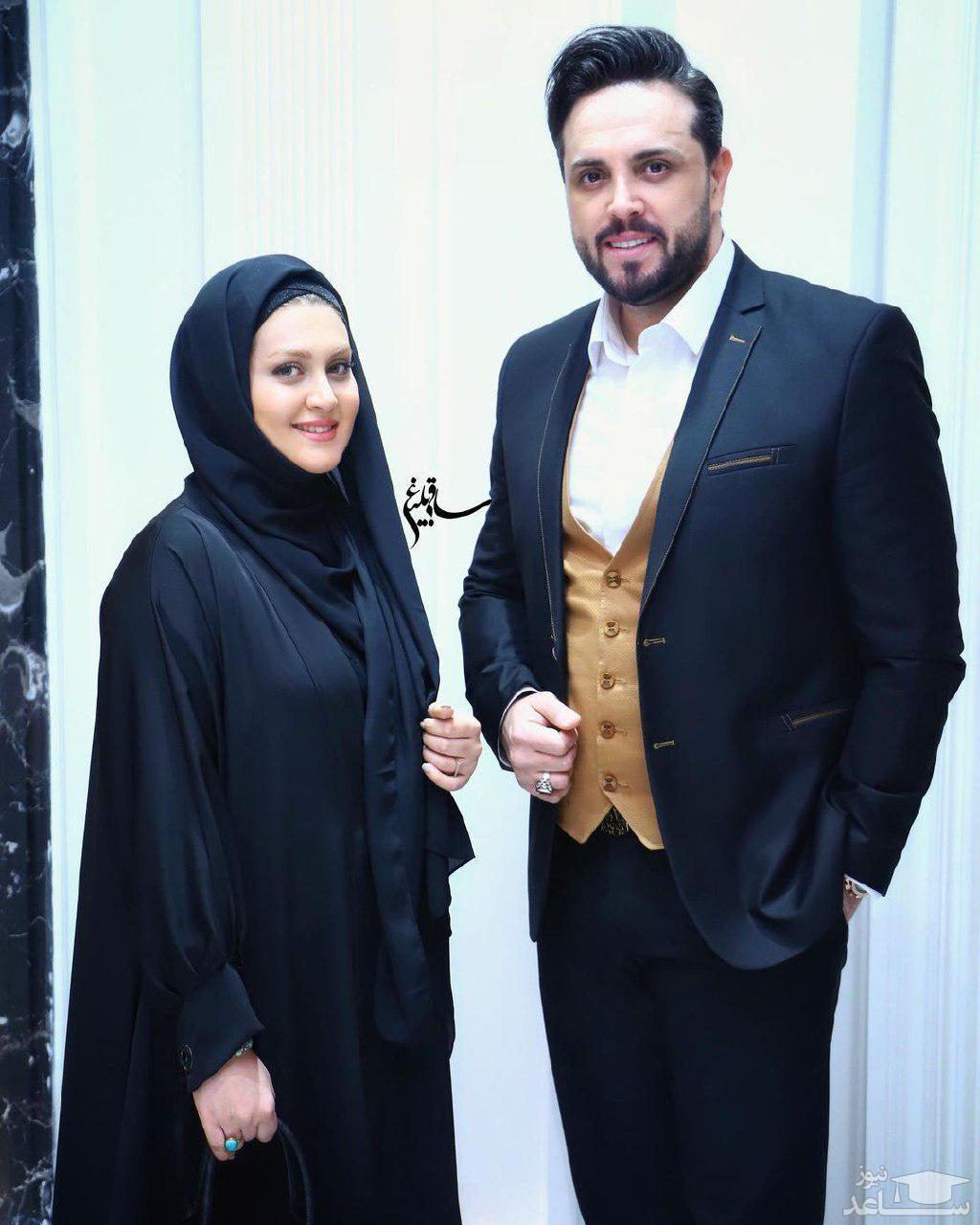 عکس تولد مجری مشهور تلویزیون در کنار همسرش