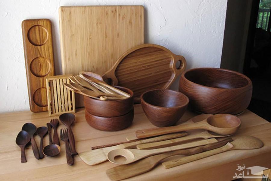 نحوه ضدعفونی و براق کردن ظروف چوبی آشپزخانه