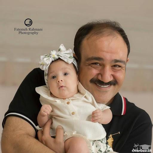 مهران غفوریان و همسرش در تولد یک سالگی دخترشان هانا