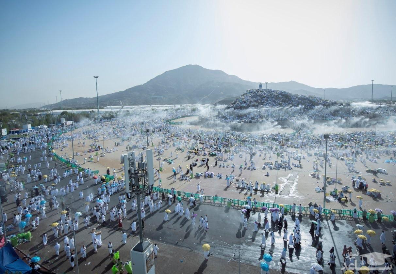 (عکس) بارش شدید باران در عرفات