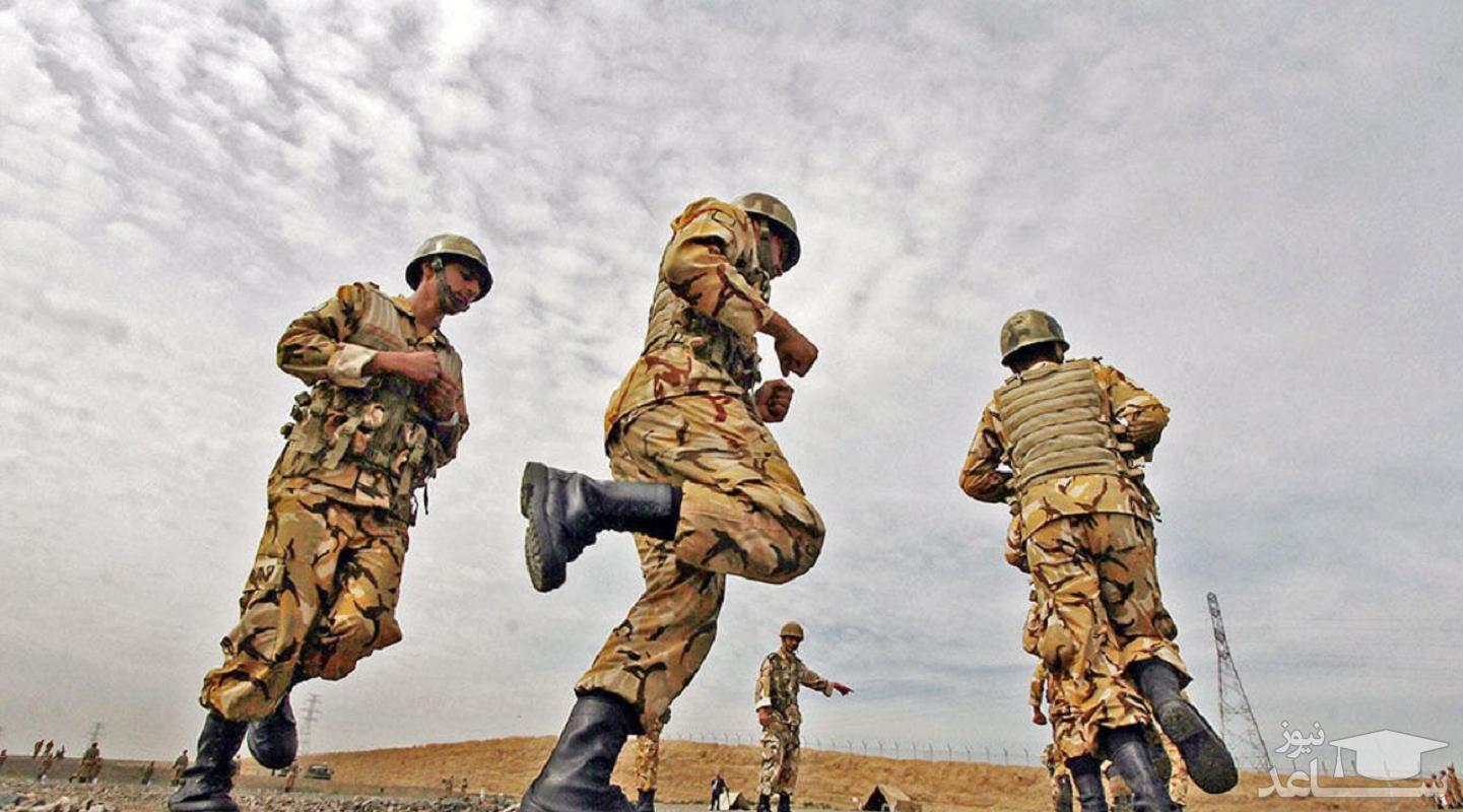 اتمام دوره احتیاط سربازان گروه پزشکی
