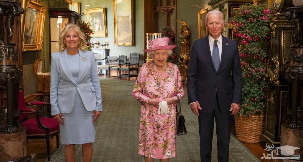 دیدار جو بایدن و همسرش با ملکه بریتانیا در قلعه وینسور