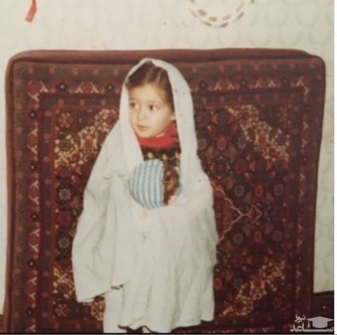 عکس کودکی الهام حمیدی