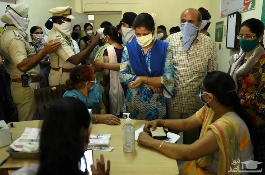 واکسیناسیون کرونا در هند
