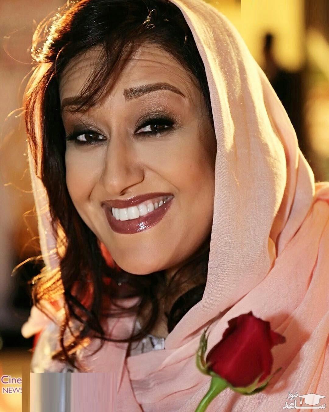 فاطمه هاشمی در آغوش همسر بازیگر مشهور