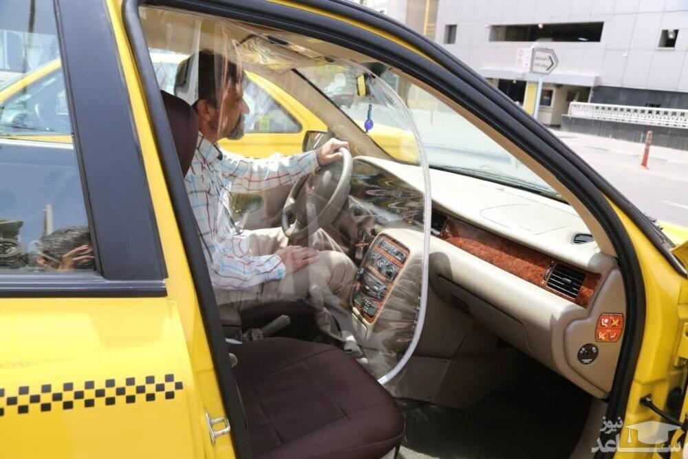 ایده جالب راننده تاکسی اینترنتی برای خنک شدن مسافرش در شرایط کرونایی