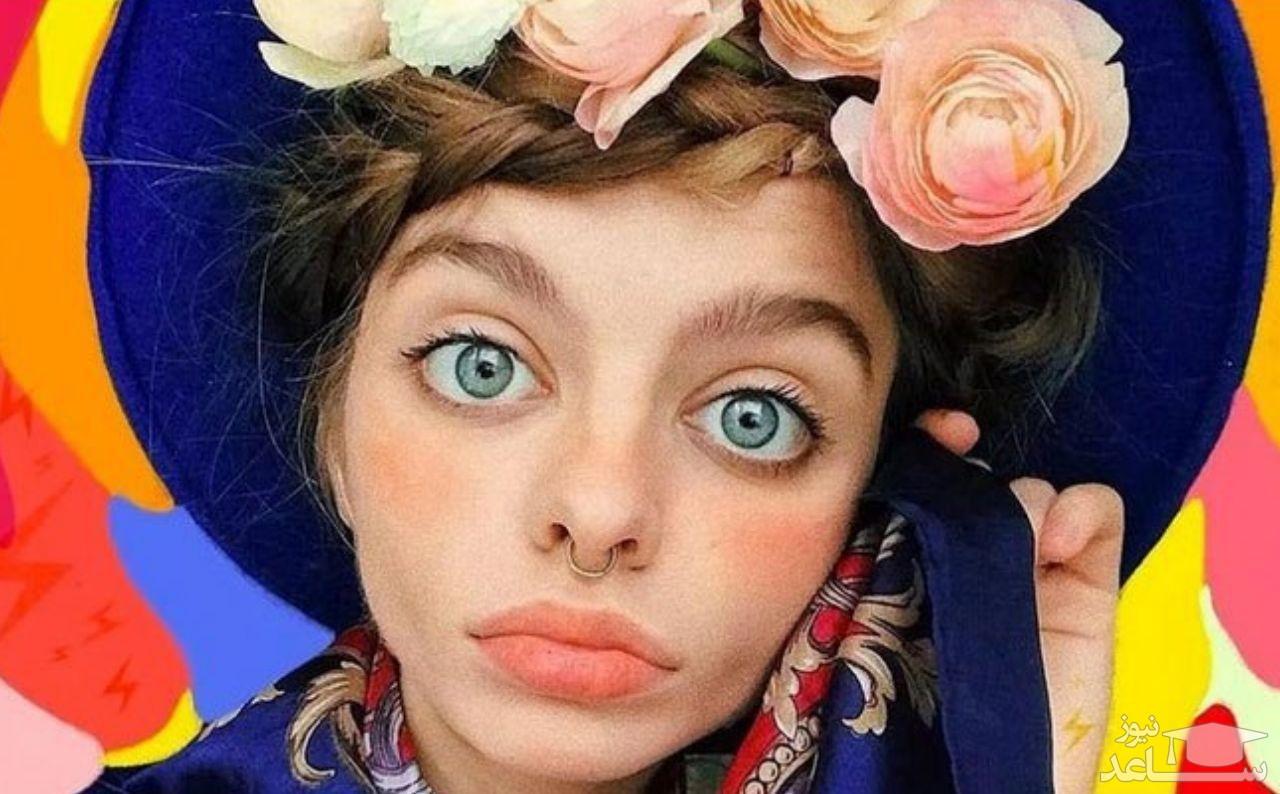 چشمان بزرگ و ترسناک مدل اکراینی باعث شهرتش شده است!
