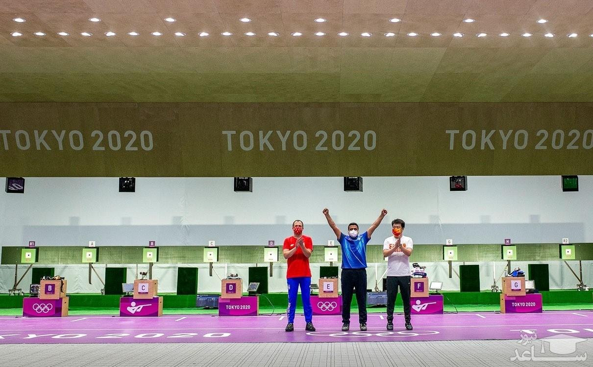 مدال طلای جواد فروغی در تیراندازی در المپیک توکیو