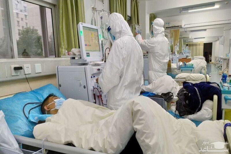 تصویرِ عیادت عجیب از یک بیمار کرونایی