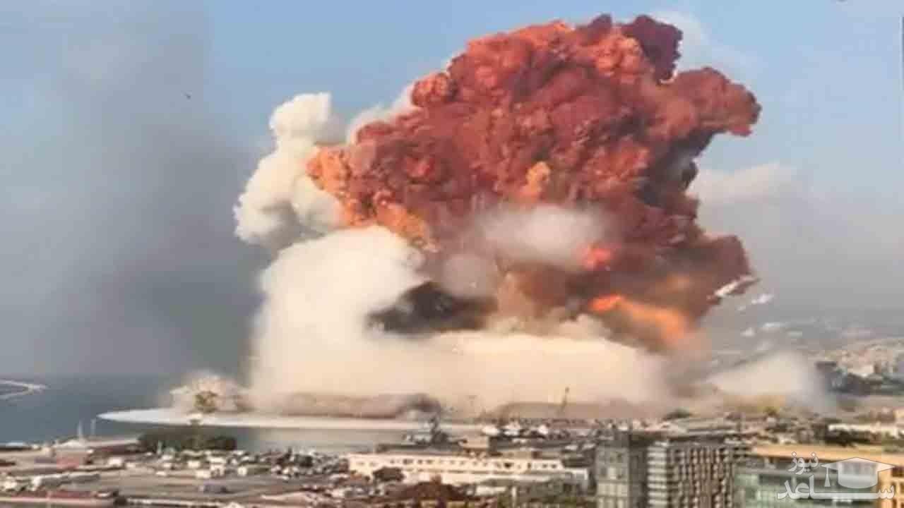 (فیلم) نالههای خبرنگار لبنانی در لحظه وقوع انفجار