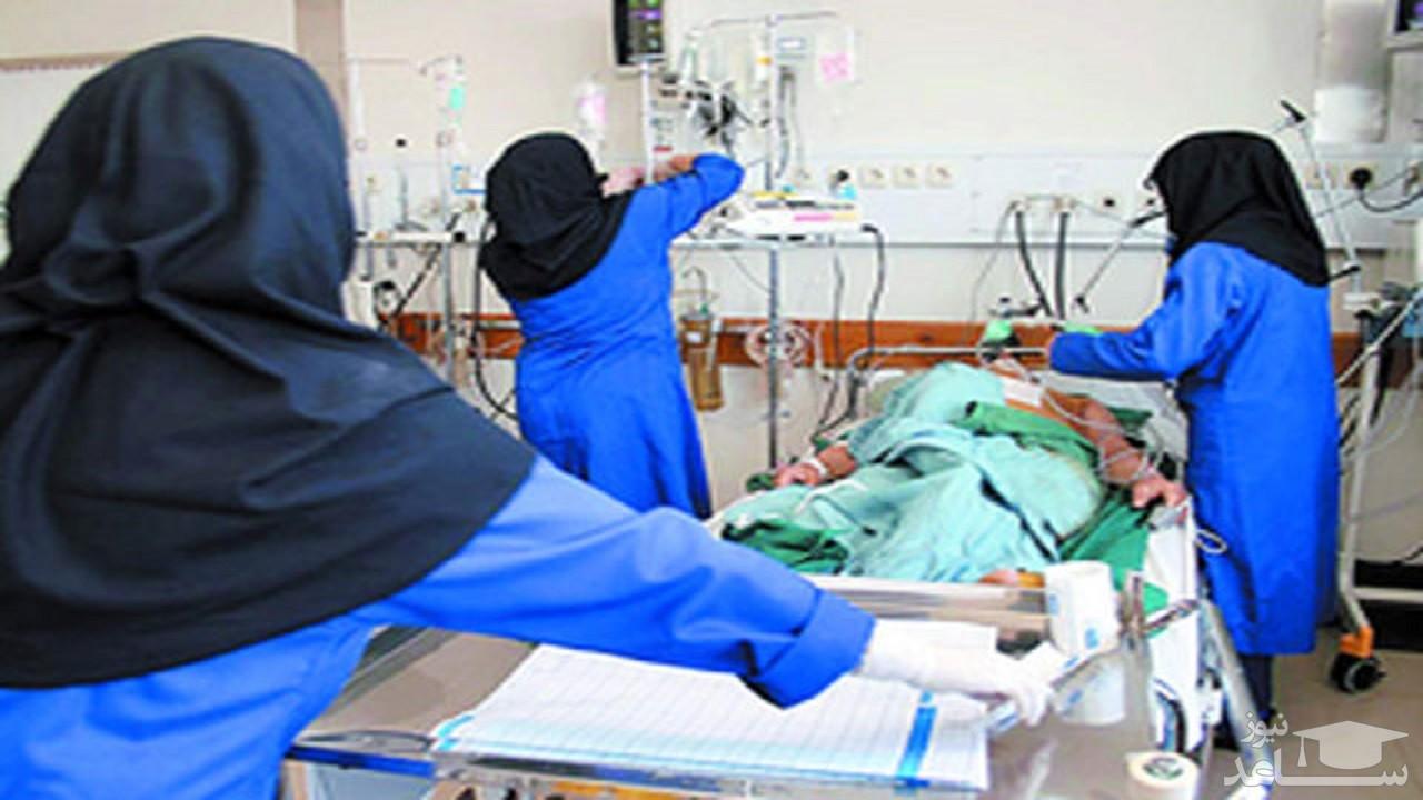 (عکس) تصویر خاص پرستار ایرانی جهانی شد