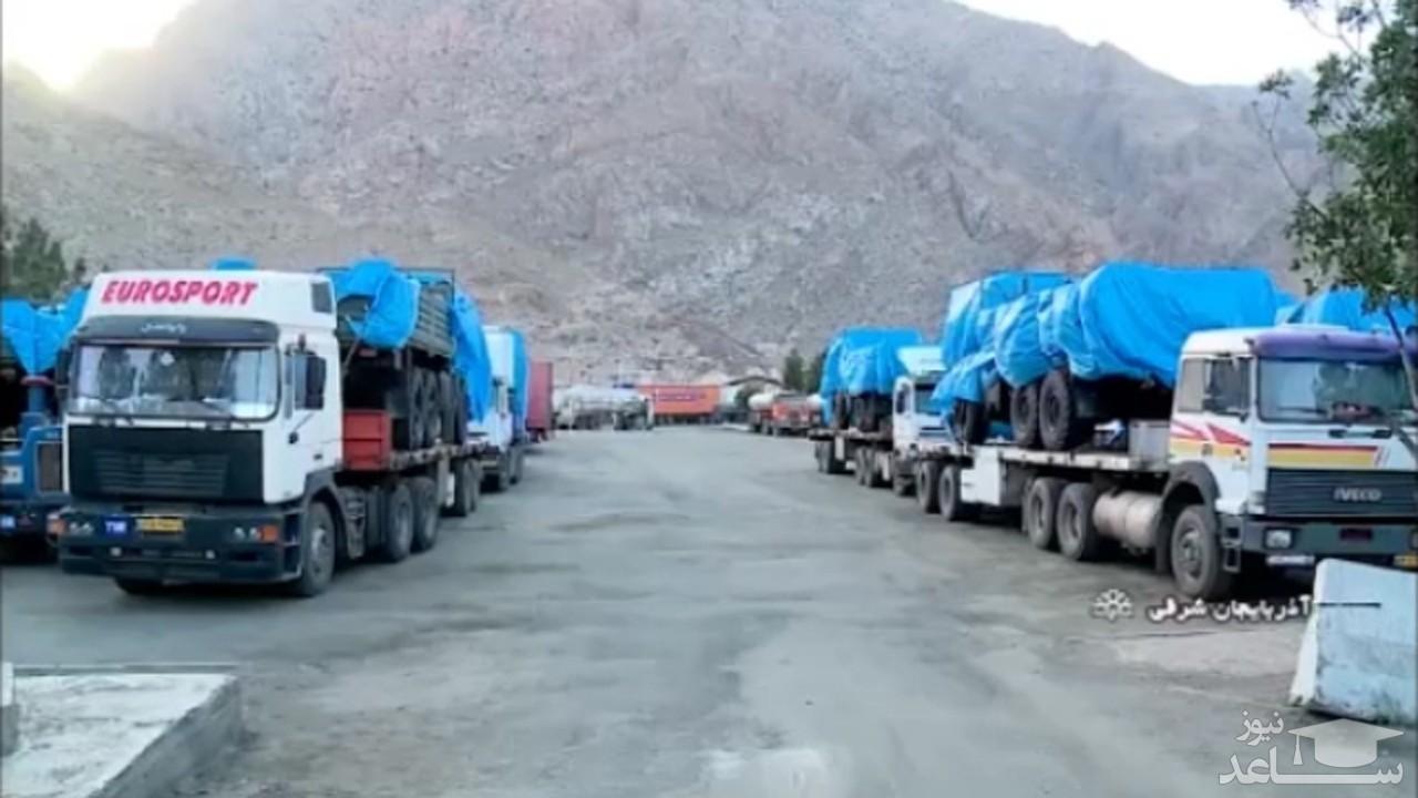 (فیلم) ماجرای انتقال تجهیزات نظامی به مرز آذربایجان شرقی چیست؟
