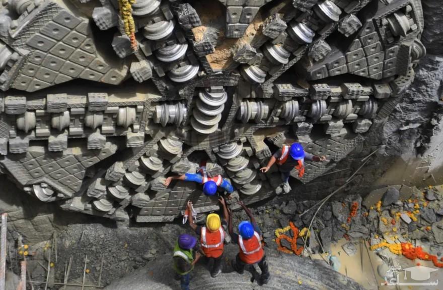 پایان عملیات حفاری زیرزمینی پروژه تونل مترو در بنگلور هند/ خبرگزاری فرانسه