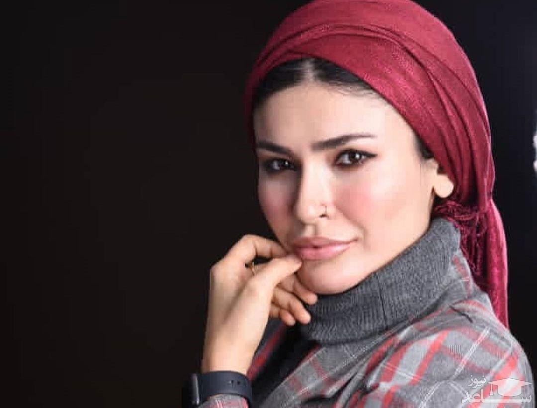 سلفی زمستانی شیوا طاهری