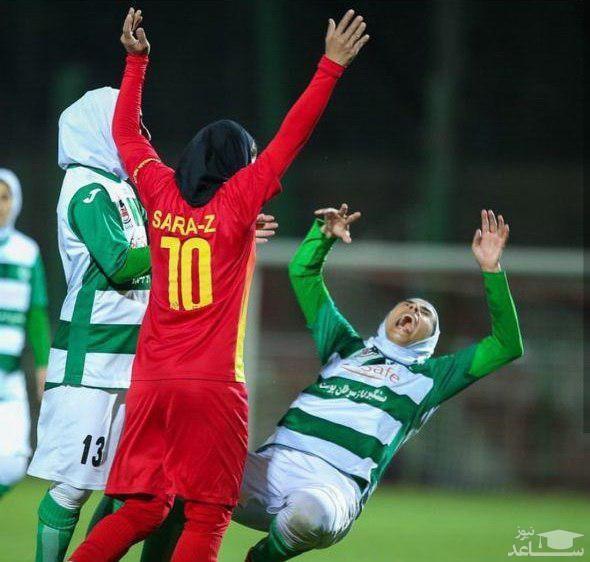 (فیلم) زد و خورد شدید در لیگ برتر فوتبال بانوان!
