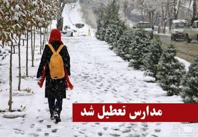 برف، مدارس آذربایجان شرقی را تعطیل کرد