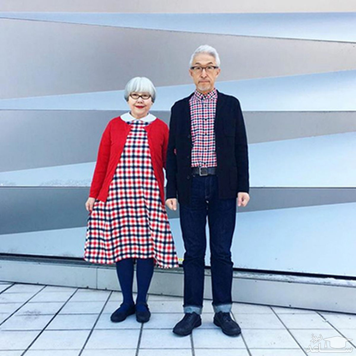 زوجی که ۳۷ سال است لباسهای ست میپوشند