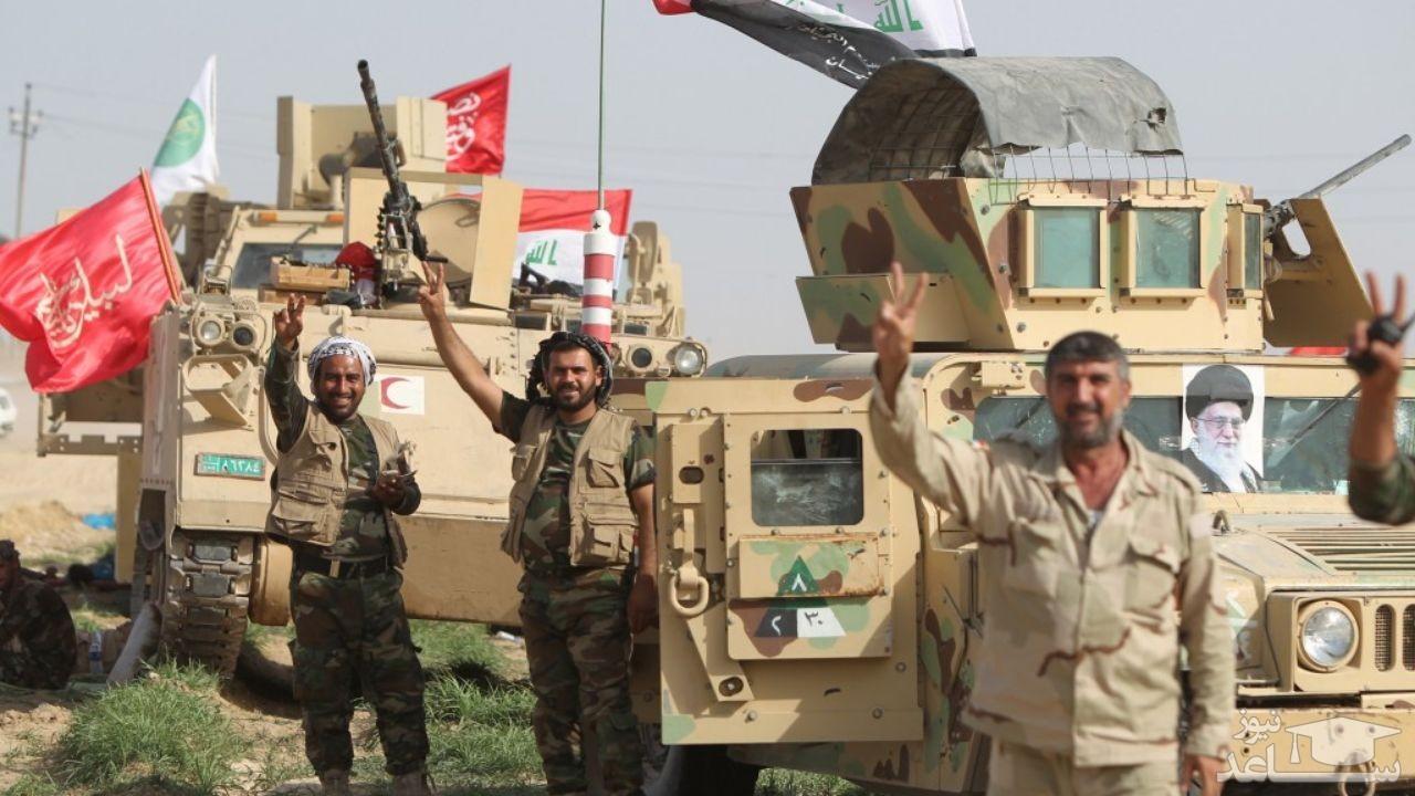مقاومت رزمندگان حشد شعبی در مقابل عناصر تروریستی داعش