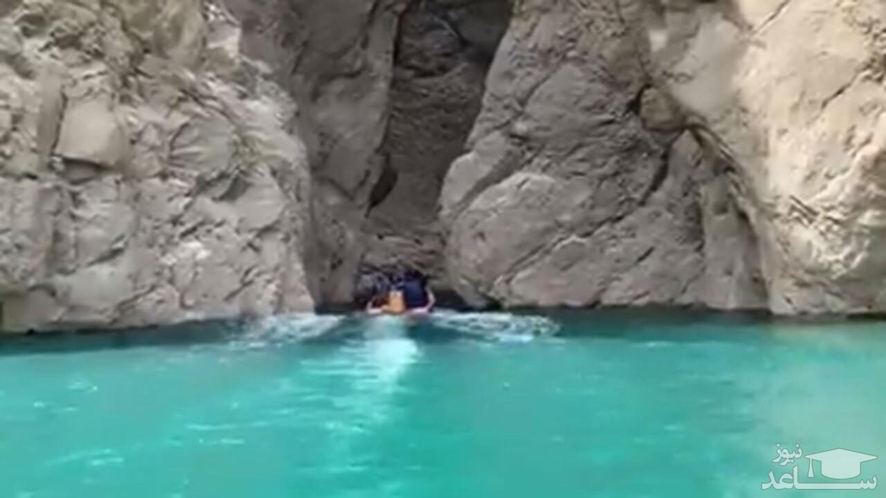 فیلمی خیره کننده از یک تنگه صخرهای در استان خوزستان