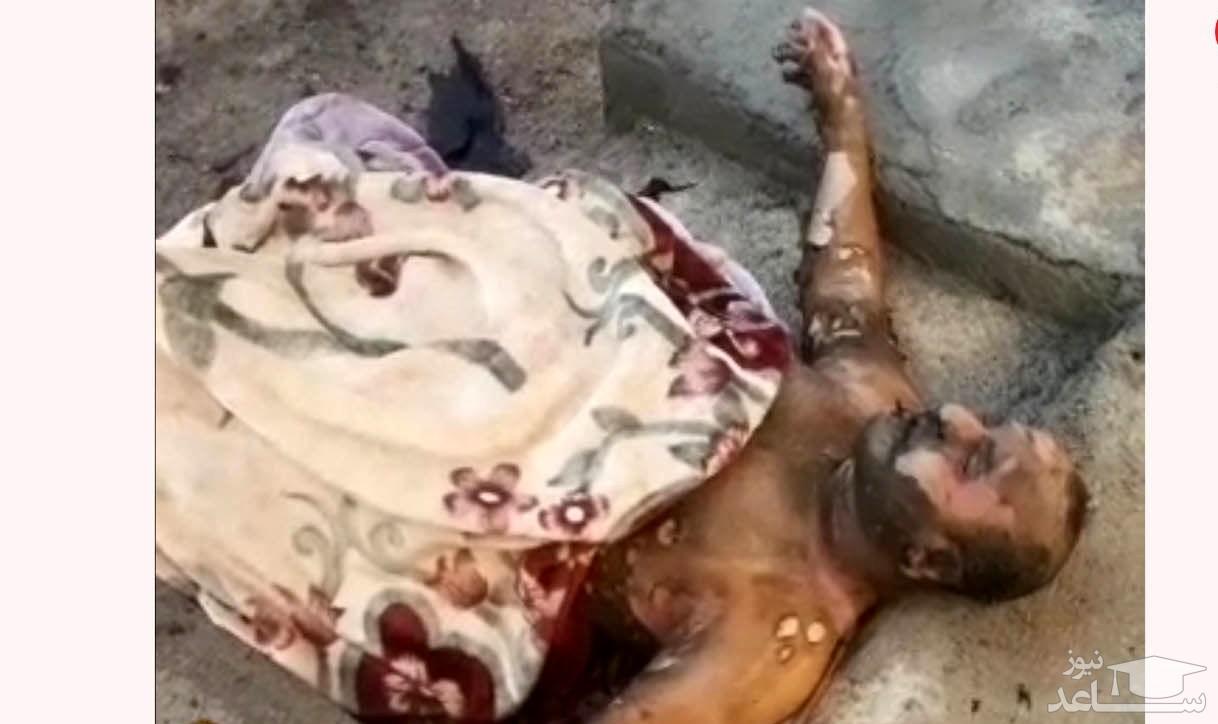 زن یاسوجی شوهرش را در خیابان به آتش کشید + فیلم 16+