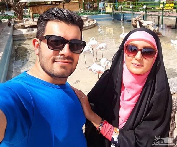 عاشقانه های مژده خنجری خانم مجری و همسرش در زیر آب