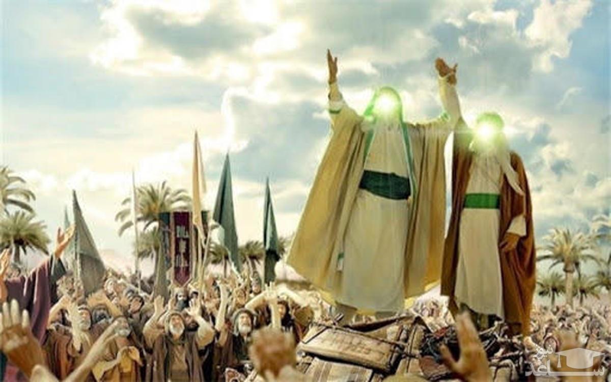 برافراشتن پرچم غدیر بر فراز گنبد حرم امیرالمومنین(ع)+فیلم