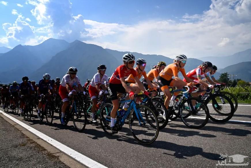 مسابقات دوچرخه سواری قهرمانی اروپا در ایتالیا/ خبرگزاری فرانسه