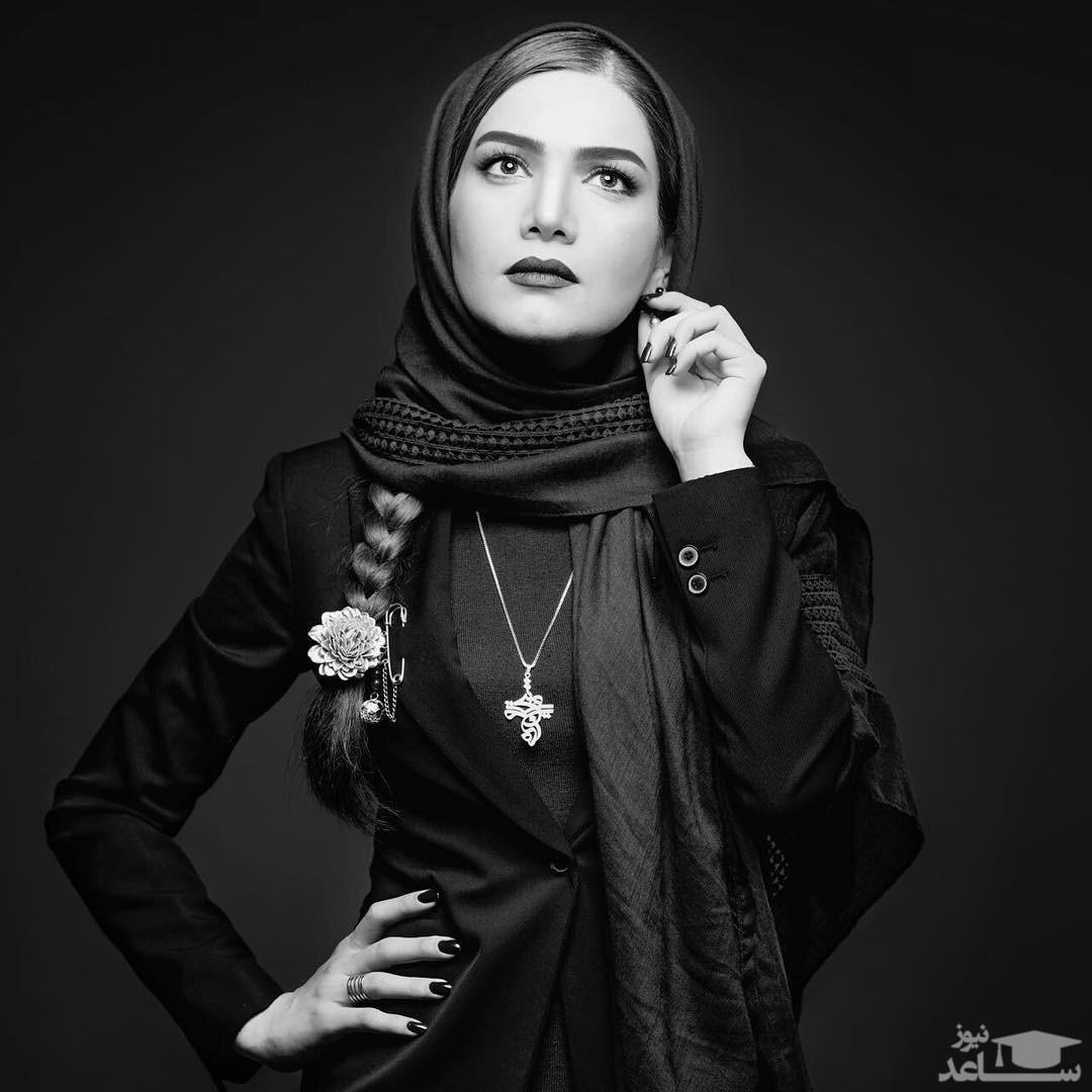 تیپ مدلینگ متین ستوده با مانتو شیشه ای
