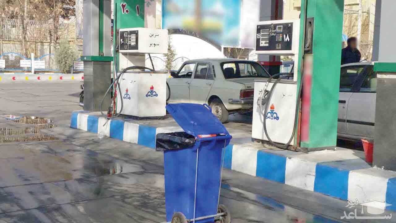 (فیلم) سوختگیری در پمپ بنزینهای آبادان متوقف شد