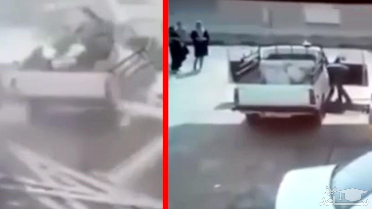 (فیلم) انفجار پمپ گاز در تبریز