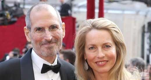 استیو جابز و همسرش