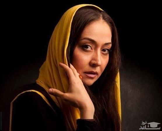 عکس غم انگیز آرزو افشار در چهلم مادرش