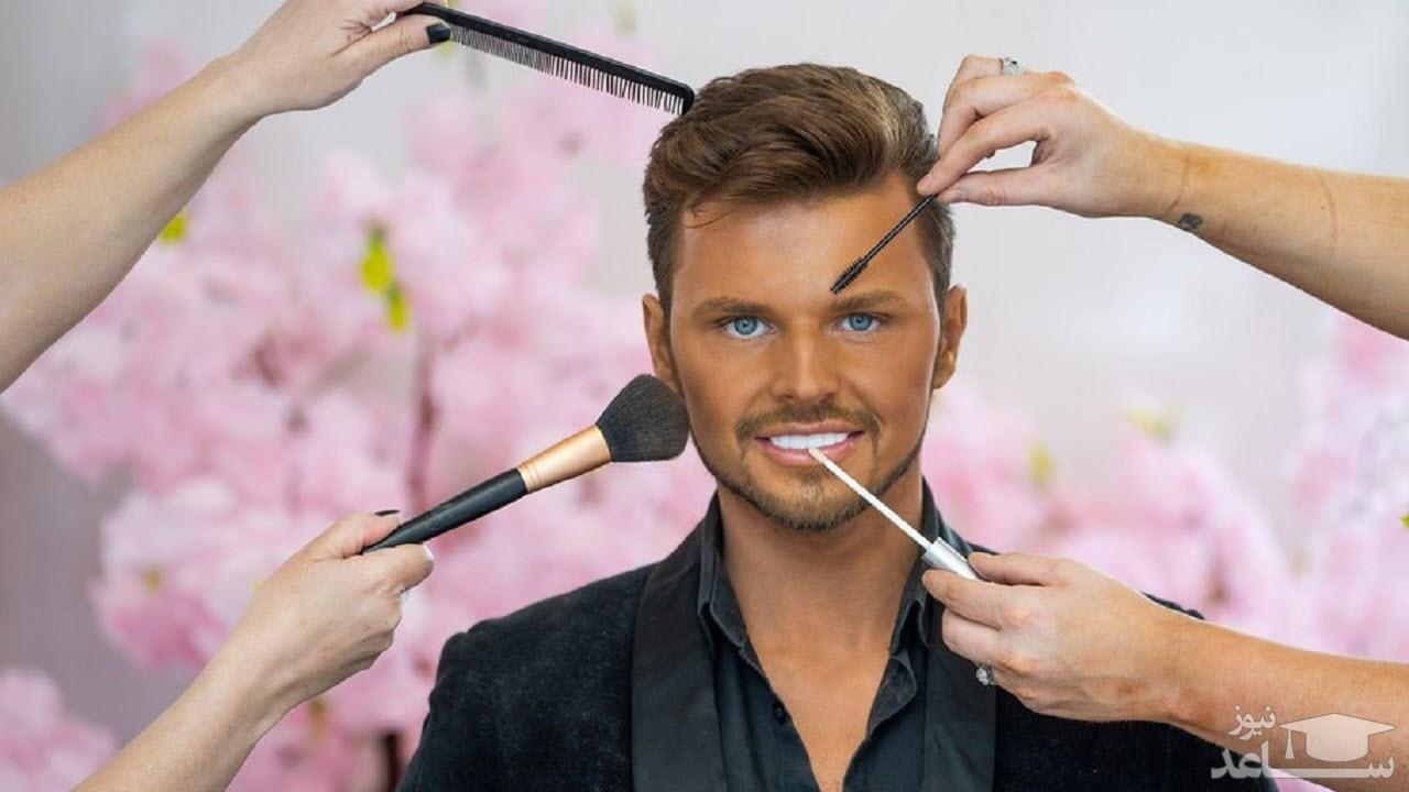 جراحی های زیبایی مردی که می خواست شبیه به عروسک شود!
