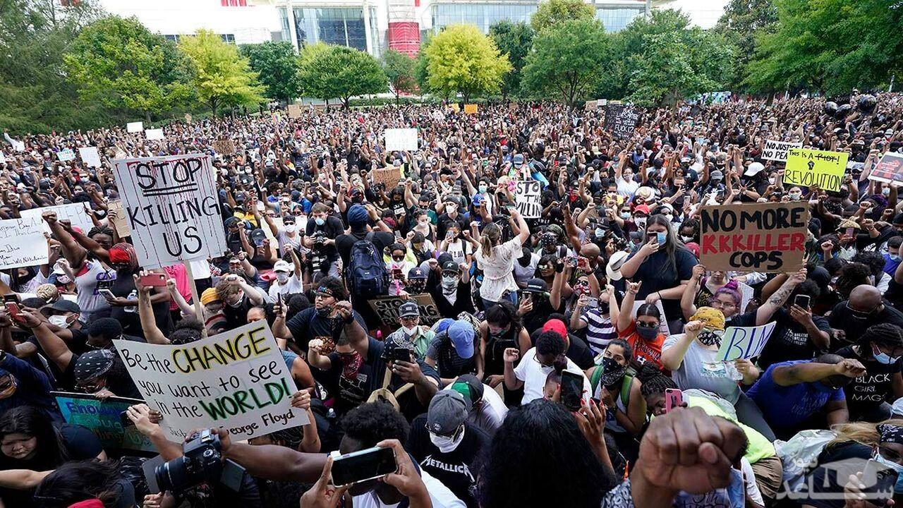 (عکس) اعتراضات آمریکا وارد فاز مسلحانه شد