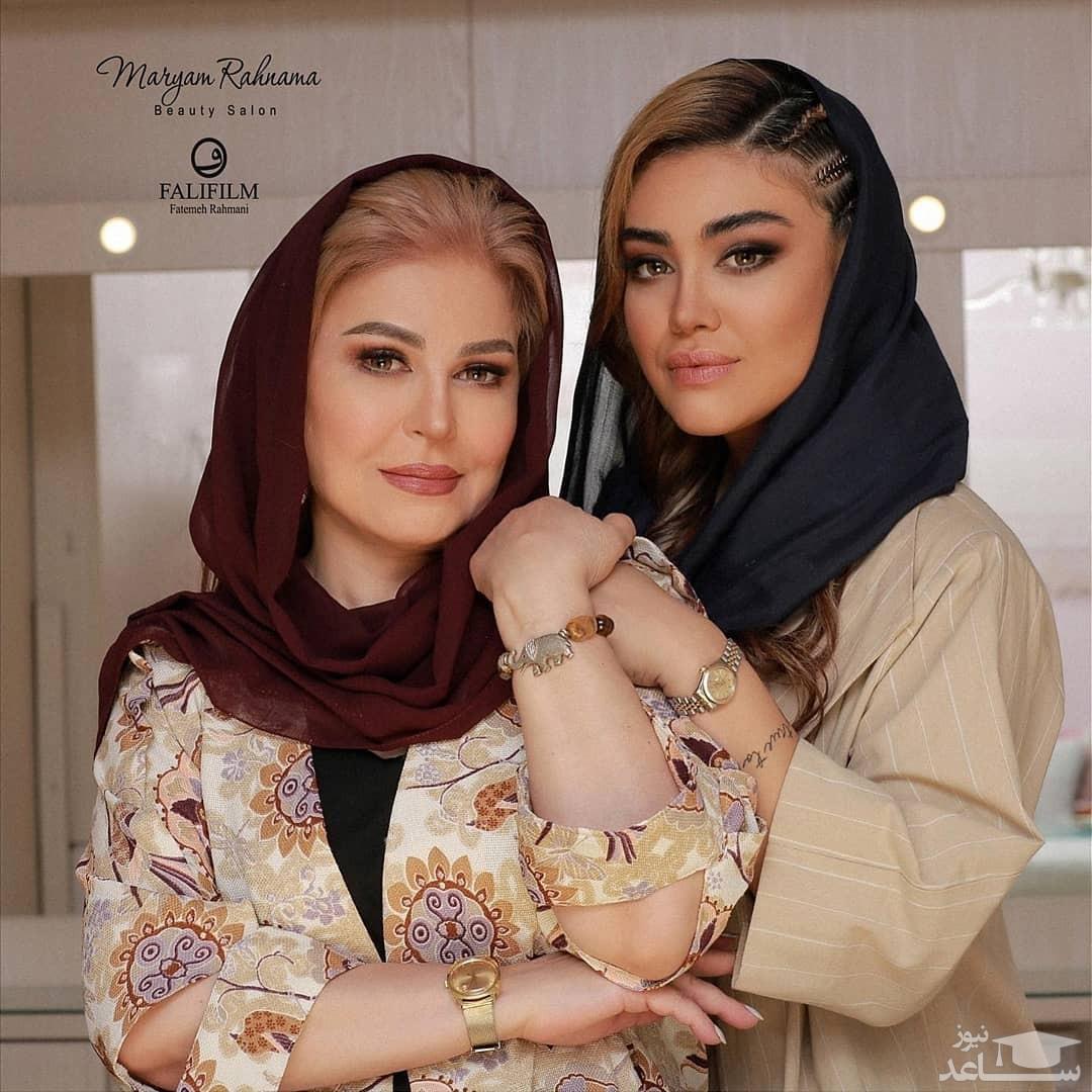 اکرم محمدی و دخترش