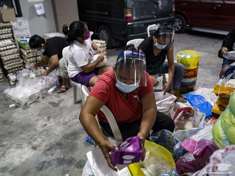 توزیع رایگان اقلام غذایی میان نیازمندان فیلیپین